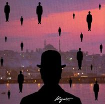 Rene Magritte Goes To Istanbul - Hommáge von Murat Kayali