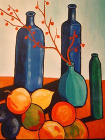 Blaue Flaschen von Karin Paland