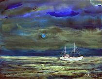 Abendstimmung am Meer von Agnes Vonhoegen