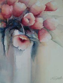 Tulpen in eckiger Vase von Stefanie Ihlefeldt