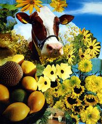 Flower Power Cow von Yvonne Pfeifer