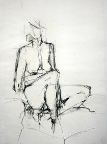 Sitzender Akt von Brigitte Eckl