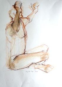 Männl.Akt mit erhobenen Armen von Brigitte Eckl