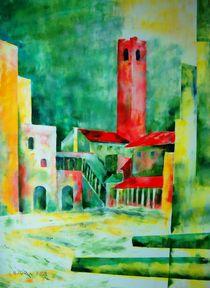 Der rote Turm by kubismus