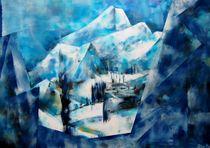 Gebirge von kubismus