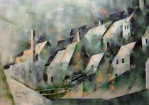 Englisches Küstendorf von kubismus