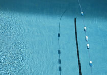 Lane Rope and Shadows in a Pool von Robert Englebright