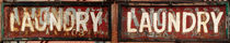 Diptych of Laundry Signs von Robert Englebright