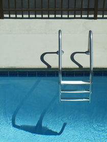 Pool Ladder and Shadows by Robert Englebright