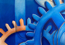 Uhrwerk, blau by Gabriel Bur