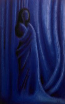 Akt mit Tuch in Blau I von Gabriel Bur