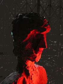 Face in red light by Reiner Poser
