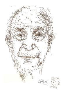 Porträt Klaus, der Gartennachbar by Reiner Poser