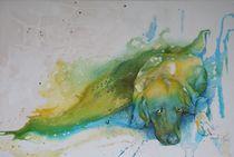Hund liegend by Evelin Ulsenheimer