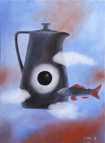Teekanne mit schwarzer Sonne by Dana Bennewitz