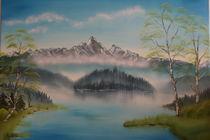 Bergsee mit Insel - Rework von raikar
