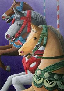 Alte Karussellpferde von Roland H. Palm