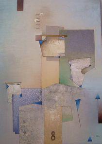 acht blaue dreiecke von Reiner Makarowski