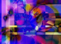 cosmic Flower - Blume von Martina Ute Rudolf