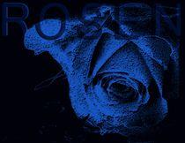 darkblue magic ocean heart von Martina Ute Rudolf
