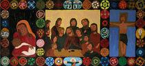 Triptychon Jesus die 12 Apostel und Maria von Birgit Oehmig