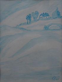 Haus im Nebel von Birgit Oehmig