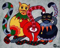 Karnevallskatzen by Birgit Oehmig