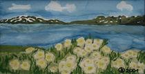 Blumenwiese im Fjell von Birgit Oehmig