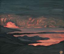 Gewitterstimmung im Fjord von Birgit Oehmig