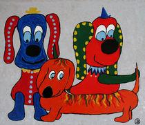 Karnevallshunde von Birgit Oehmig
