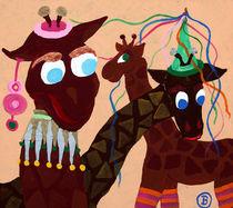 Karnefalsgiraffen von Birgit Oehmig