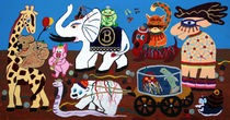 Karneval der Tiere Kalenderdeckblatt von Birgit Oehmig