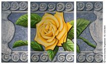 Rosenrelief von Yvonne Onischke