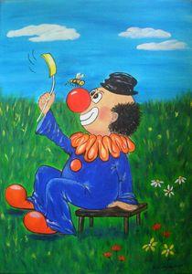Clown 2 von Ulrike Sallós-Sohns
