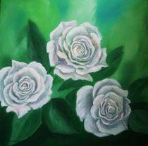 weisse Rosen von Ulrike Sallós-Sohns