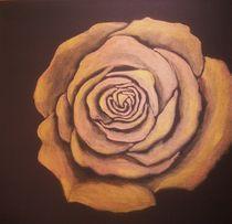 Rose in gold von Ulrike Sallós-Sohns