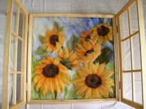 Sonnenblumenfenster von Birgit Albert