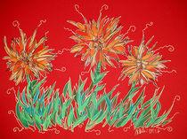 Blumen in Rot von Nikola Hahn