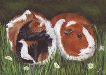Meerschweinchen in Acryl 2 von lona-azur