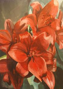 Rote Lilien von Franziska Ziebarth