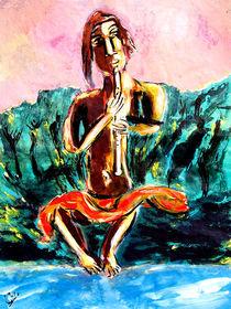 Flötenbuddha von Premdharma S. Gartlgruber