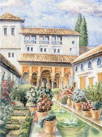 Garten in der Alhambra (Garden in the Alhambra) von Ronald Kötteritzsch