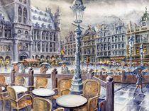 Bruxelles III -  im Regen (Brussels III - in the rain) von Ronald Kötteritzsch