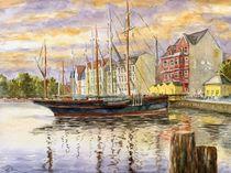 Abend an der Flensburger Förde I (Evening at the Flensburg Fjord I) von Ronald Kötteritzsch