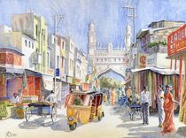 Straße in Hyderabad (Street in Hyderabad) by Ronald Kötteritzsch