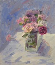 Rosen in Glasvase von Franz Brandner