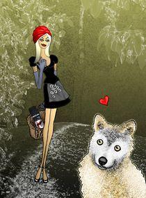 Wolf und das böse Rotkäppchen by gisela punzet