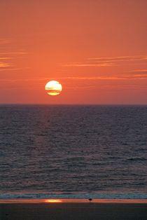 Red sun of Borkum by Dirk Schäfer