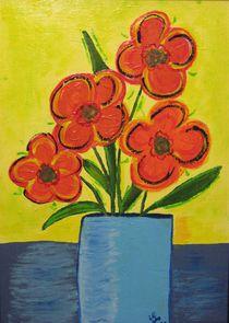 Blumen in Vase von Daniela Lehmann