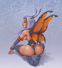 Dark Celtic Fairy von Alejandro Gutierrez Franco